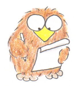 niki owl taking notes