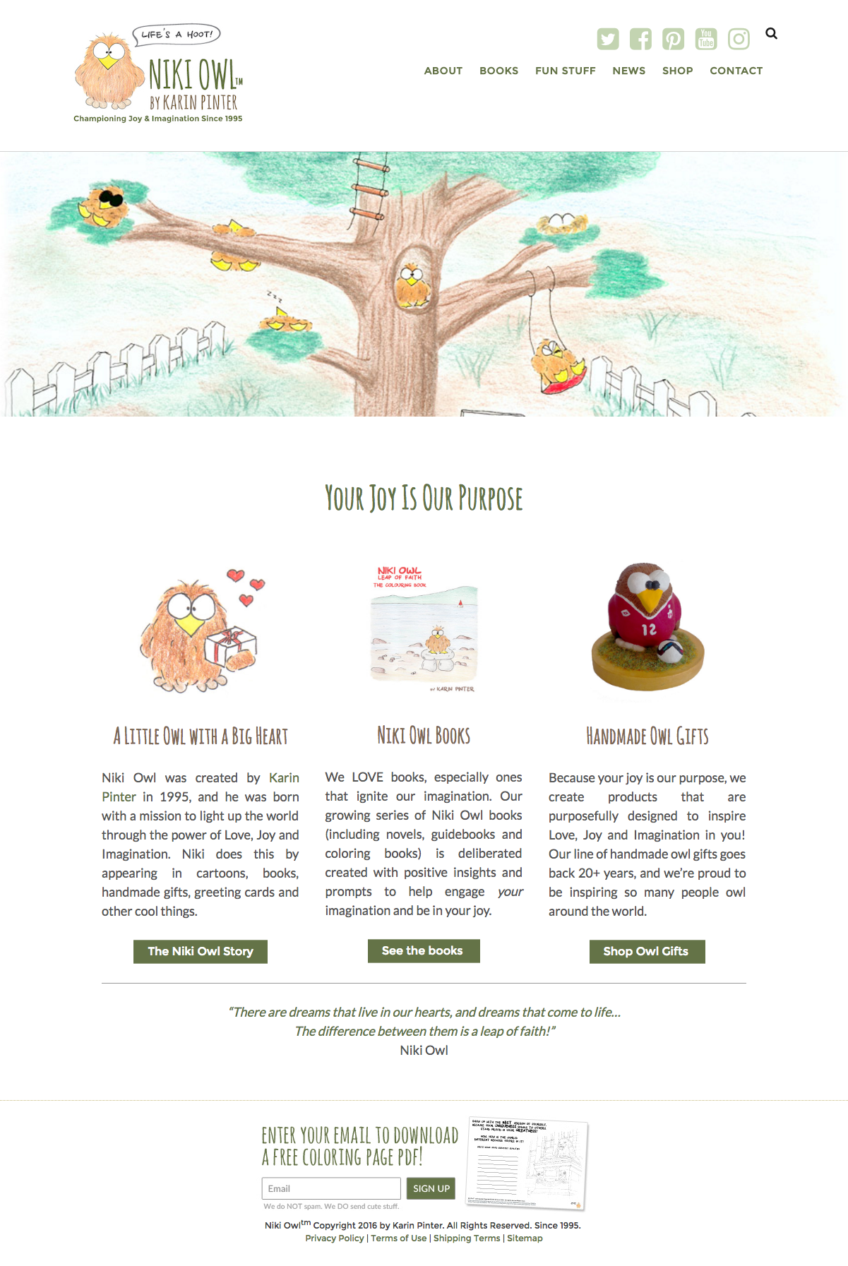 niki owl website