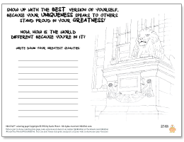 Niki Owl coloring page PDF