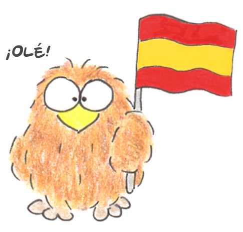 niki owl spanish flag