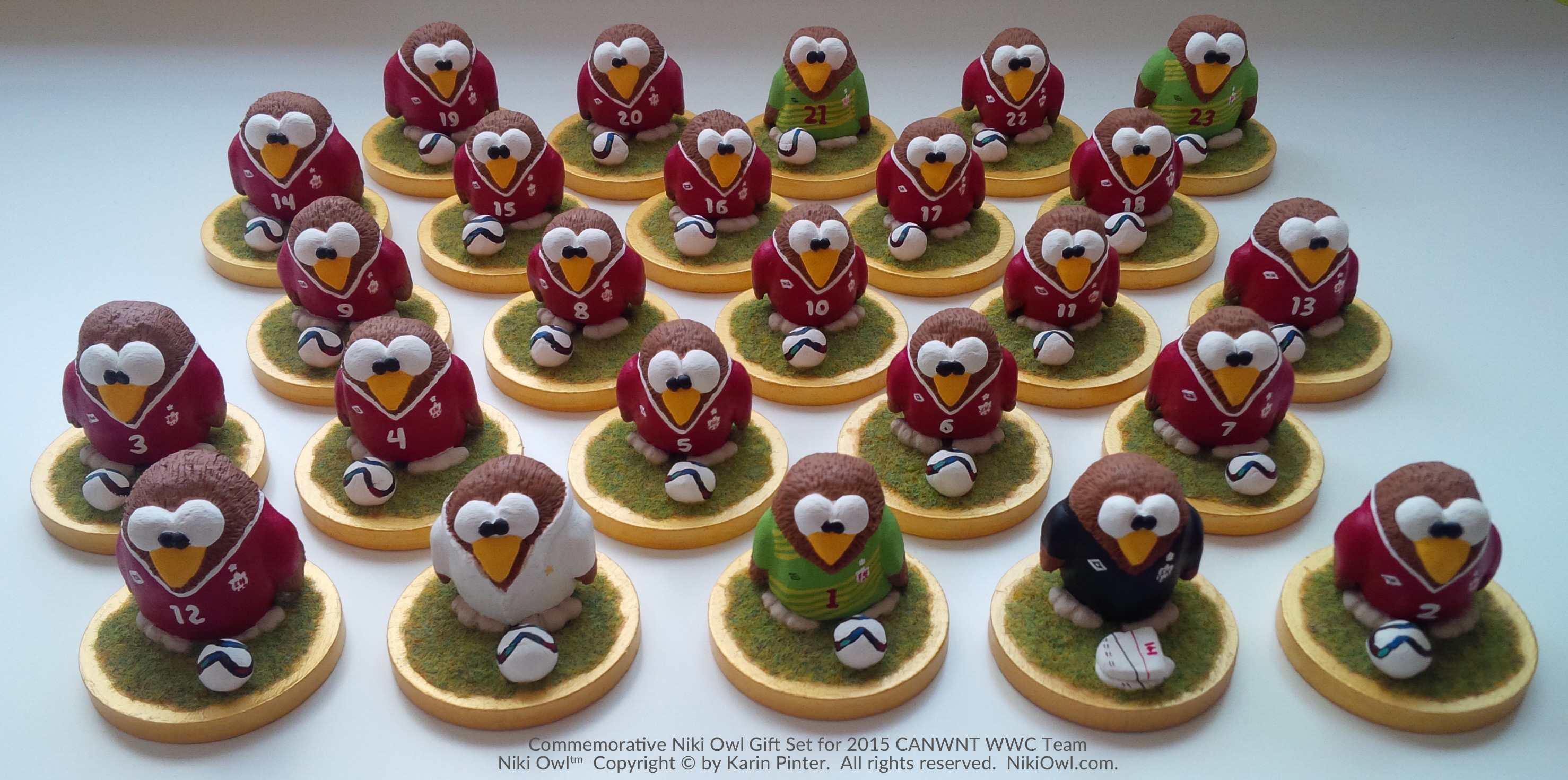 Making the Niki Owl CANWNT Team Gift