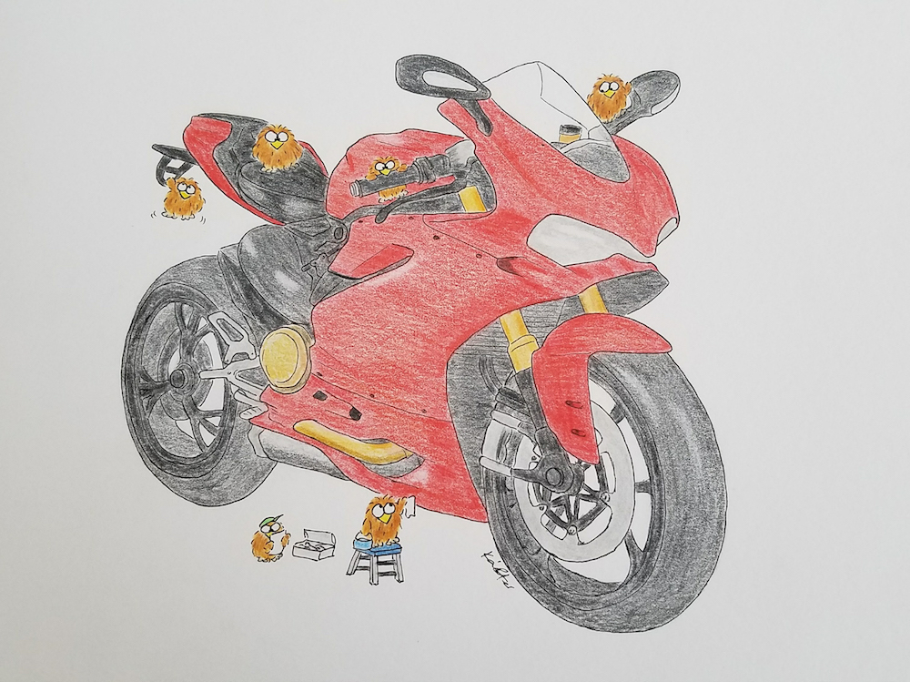 Ducate Panigale Drawing