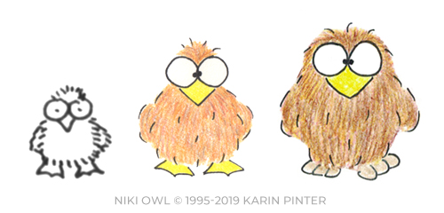 Niki Owl from 1995 to 2019 by Karin Pinter