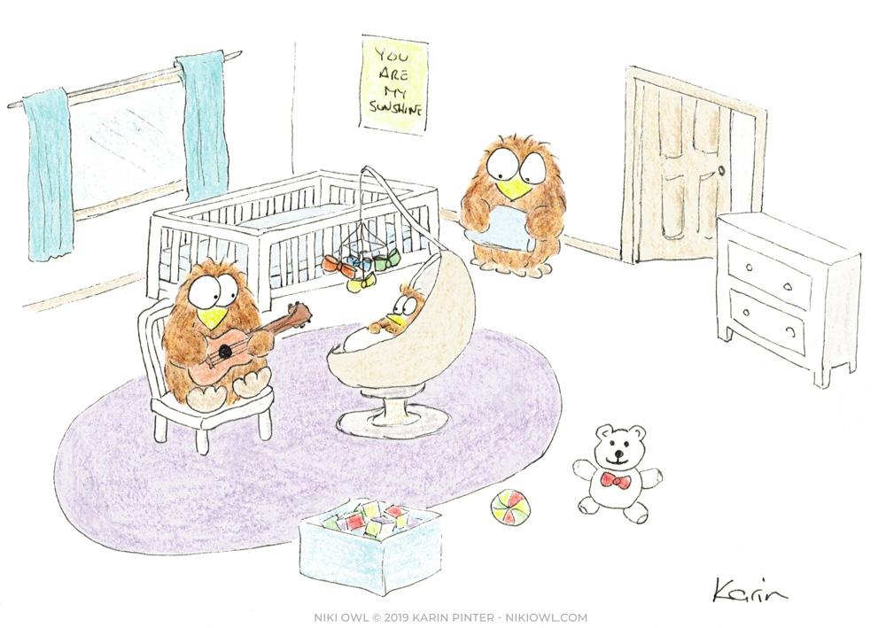 Niki Owl illustrations
